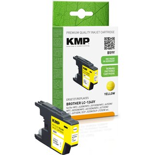 KMP Tinte B59Y (yellow) ersetzt Brother LC1240Y (alternativ zu B40)