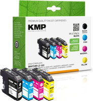 KMP Tinte B62VX MULTIPACK ersetzt Brother LC-223VALBP...
