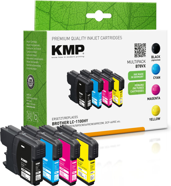 KMP Tinte B78VX MULTIPACK ersetzt Brother LC1100HYVALBP